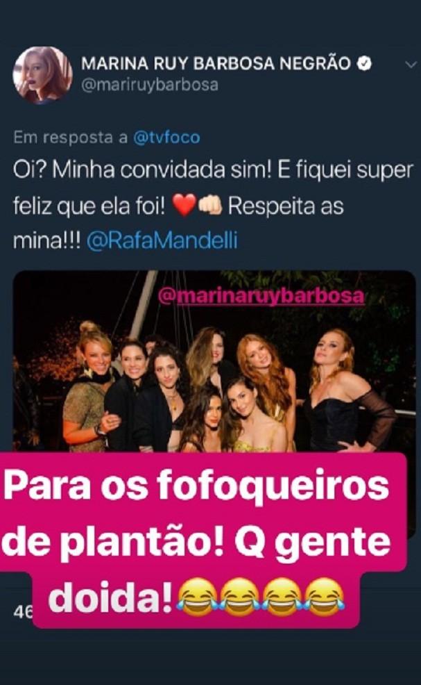 Marina Ruy Barbosa respondeu boatos (Foto: Instagram/Reprodução)