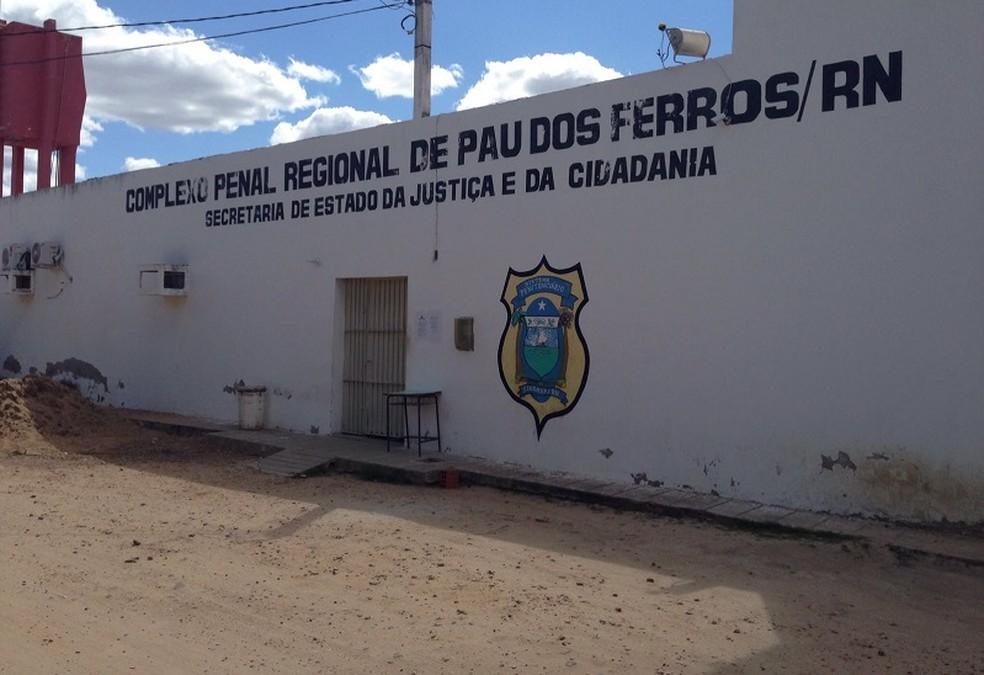 Complexo Penal Regional de Pau dos Ferros, no RN, onde foi encontrado dinheiro dentro de cela (Foto: Sejuc/Divulgação)