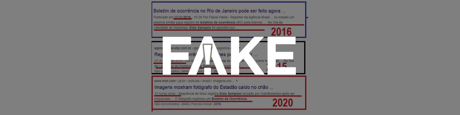 É #FAKE que fotógrafo do Estadão foi agredido no Dia da Liberdade de Imprensa também em anos anteriores
