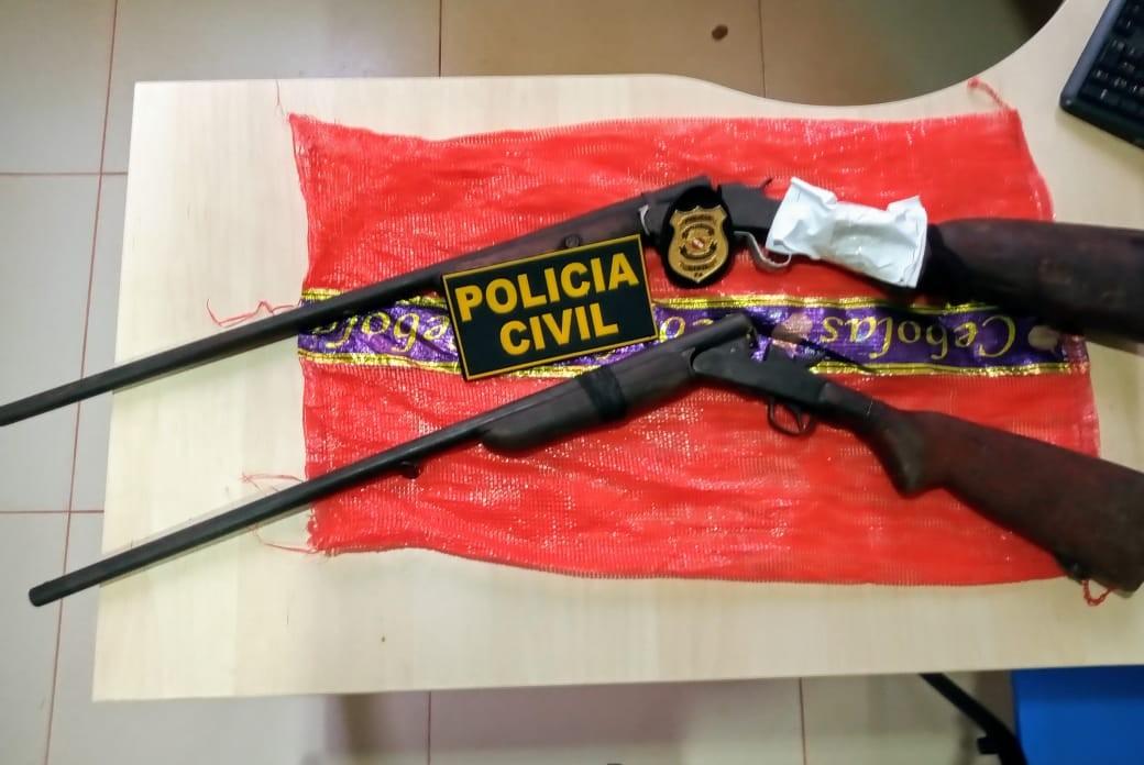 Polícia apreende espingardas durante ação na zona rural de Rurópolis, no PA