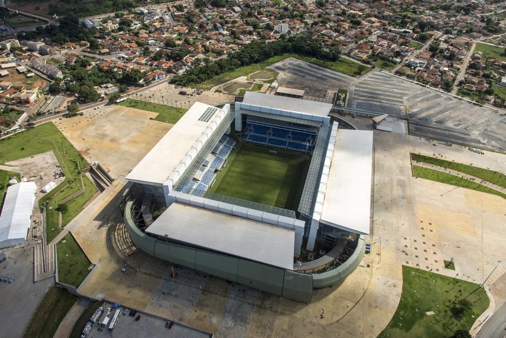 Mesmo sem ter sido concluída, Arena Pantanal foi palco de jogos da Copa e segue sendo usada para a realização de eventos em Cuiabá (Foto: Secopa/Divulgação)