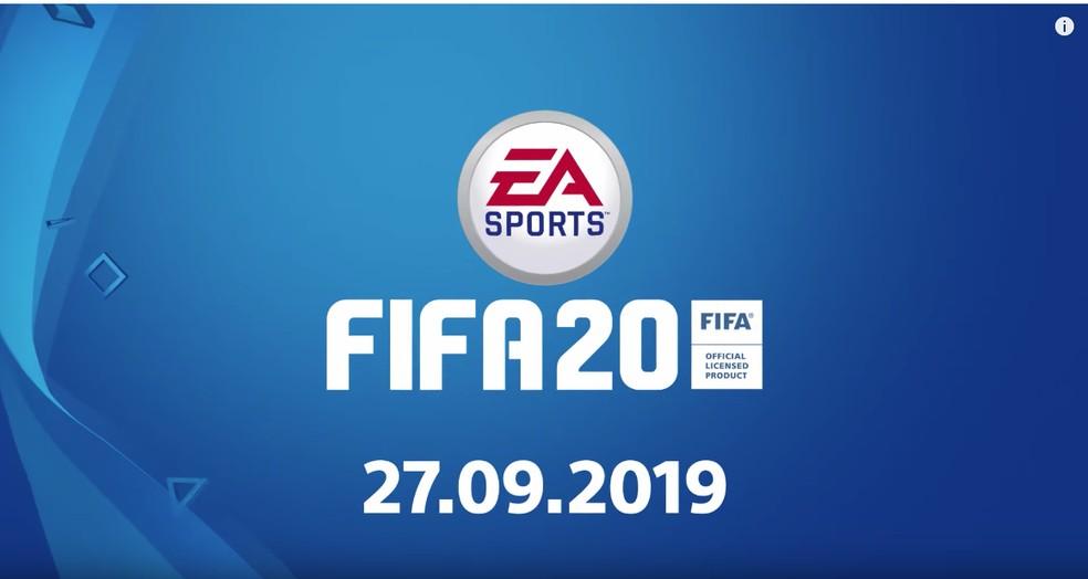 FIFA 20 já tem data de lançamento divulgada — Foto: Reprodução/EA