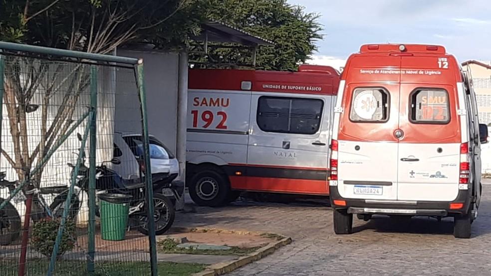 A UPA da Cidade da Esperança durante pandemia em Natal — Foto: Sérgio Henrique Santos/InterTV Cabugi