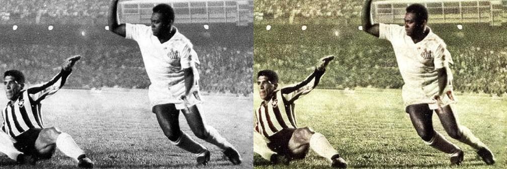 Coutinho em ação contra o Botafogo no Maracanã — Foto: Reprodução