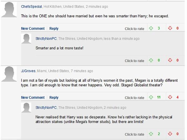 Comentários dos fãs (Foto: Daily Mail)