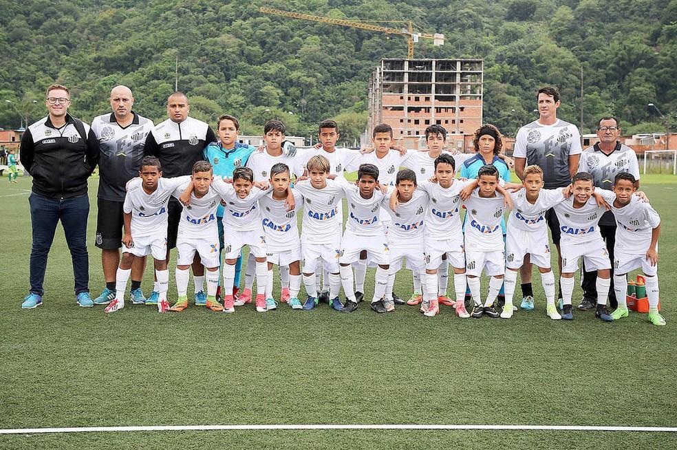 Sub-11 do Peixe venceu o Noroeste por 2 a 0 (Foto: Pedro Ernesto Guerra Azevedo / Santos FC)