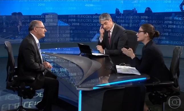 Geraldo Alckmin em entrevista ao JN