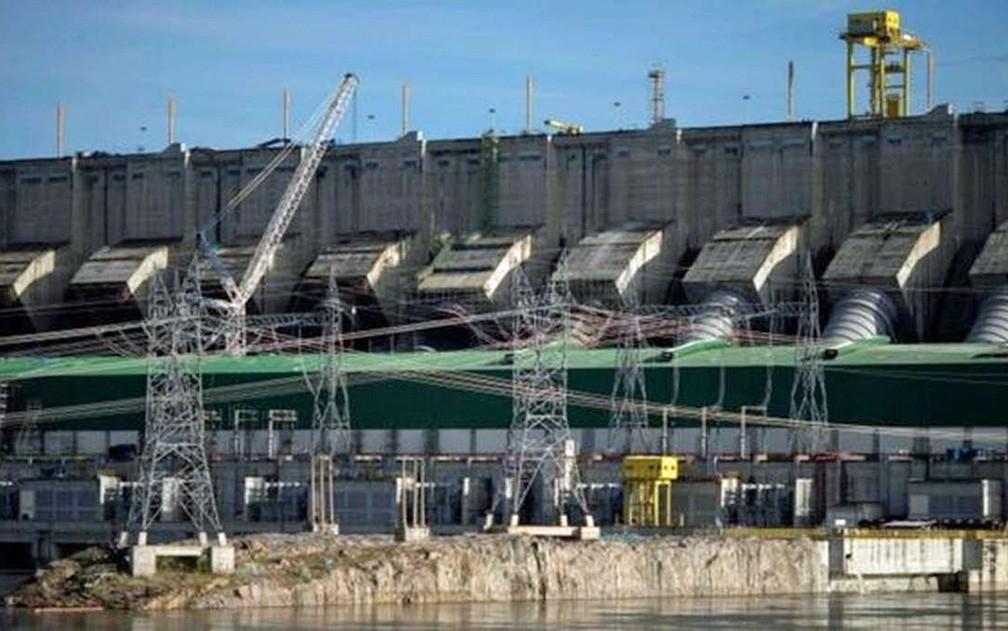 Turbinas da usina hidrelétrica de Belo Monte, no rio Xingu, no Pará — Foto: AFP Photo
