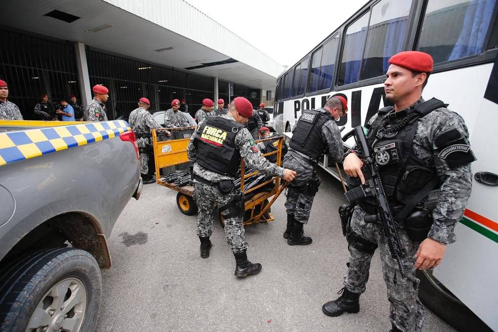 Força Nacional deve atuar na segurança de Caucaia durante as eleições municipais 2020 — Foto: Thiago Gadelha/SVM