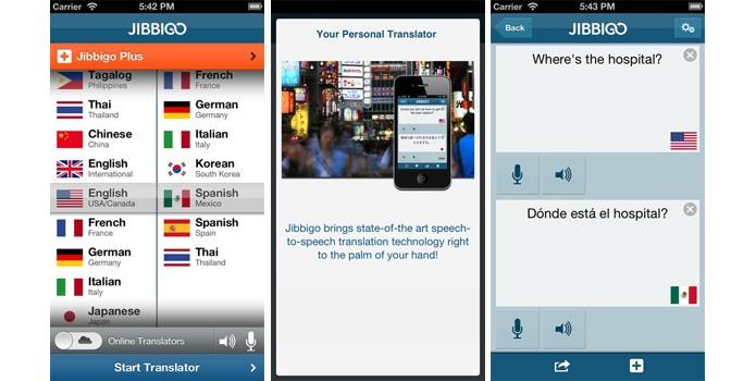 O Jibbigo é capaz de traduzir textos quando está online e offline (Foto: Reprodução/Apple Store)