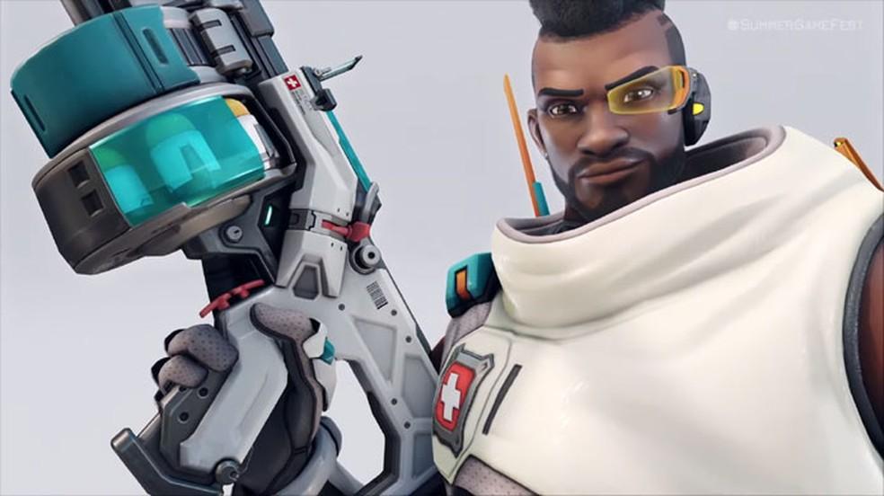 Overwatch 2 apareceu rapidamente para mostrar uma nova versão de Baptiste e Sombra — Foto: Reprodução/Summer Game Fest 2021