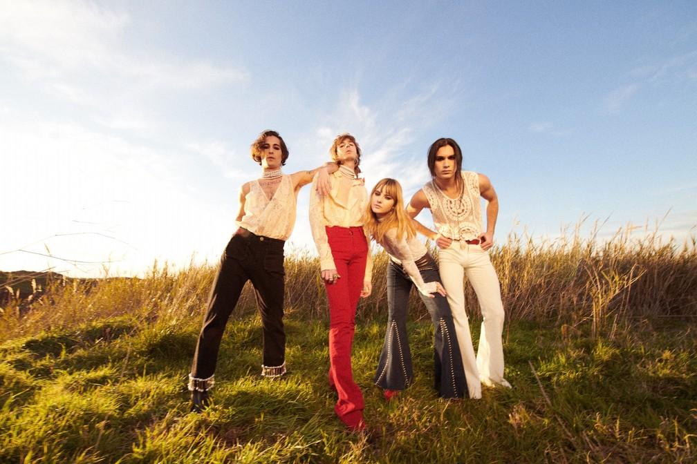 A banda italiana Måneskin — Foto: Divulgação
