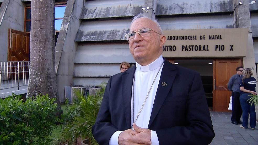 Dom Jaime Vieira Rocha, arcebisto de Natal, participará da celebração (Foto: Reprodução/Inter TV Cabugi)
