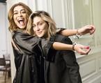 Juliana Paes e Amora Mautner nos bastidores de 'A dona do pedaço' | Rede Globo / João Miguel