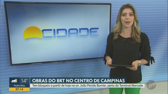 Centro de Campinas recebe obra do BRT para construção do novo Terminal Mercado; veja reflexos