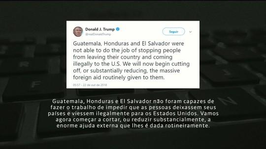 Caravana de imigrantes: Trump promete cortar ajuda a Guatemala, Honduras e El Salvador