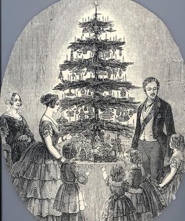 Resultado de imagem para Família real com a árvore de Natal. Rainha Victoria