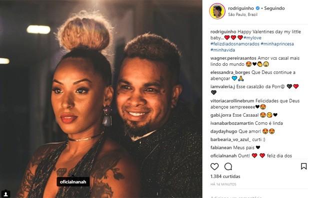 Rodriguinho e Nanah (Foto: Reprodução/Instagram)