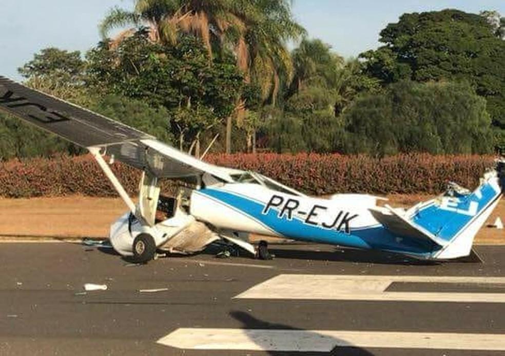 As duas aeronaves estavam pousando no aeroclube de Itápolis  (Foto: Gileno RDD/ Divulgação )