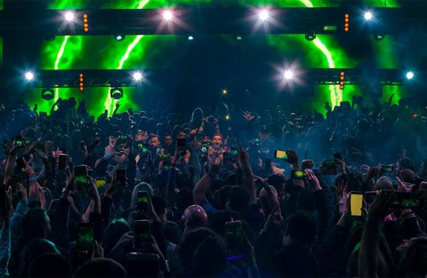 Apresentação do DJ Vintage no Complexo Music Park (Foto: Caio Graça / Divulgação)