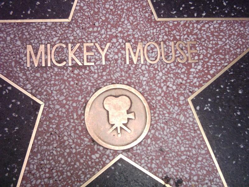 Estrela da fama de Mickey Mouse (Foto: freshwater2006/Wikimedia Commons)