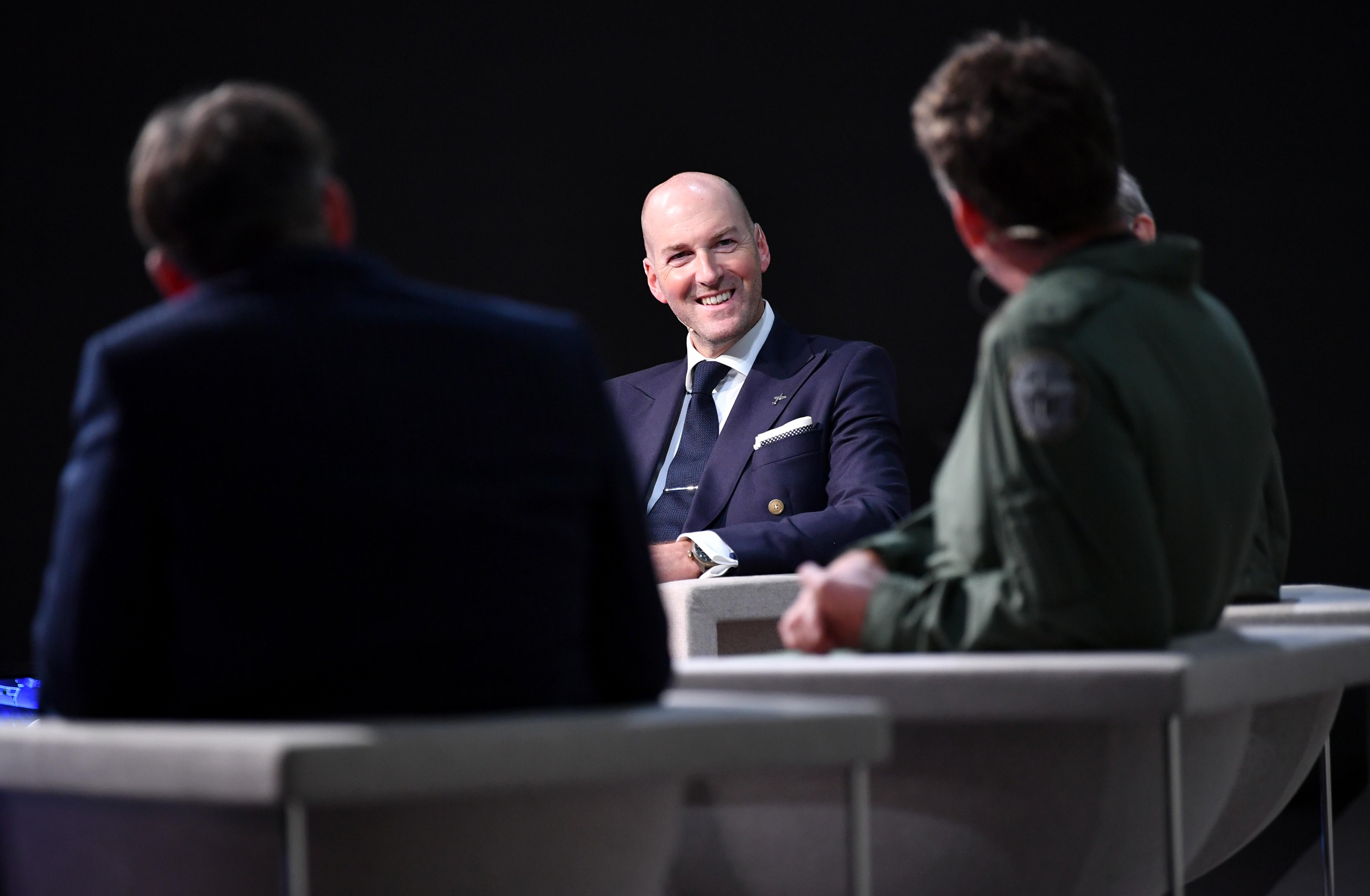 Christian Knoop, diretor criativo da IWC, fala durante o Salão Internacional de Alta Relojoaria, em Genebra (Foto: Getty Images / Harold Cunningham)
