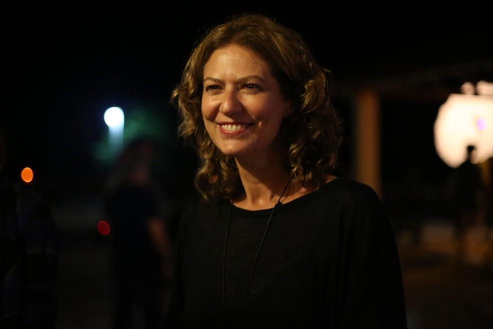 Patricia Pillar no lançamento de 'Onde Nascem Os Fortes'. Na supersérie, ela será Cássia (Foto: Gabriel Nascimento/Gshow)