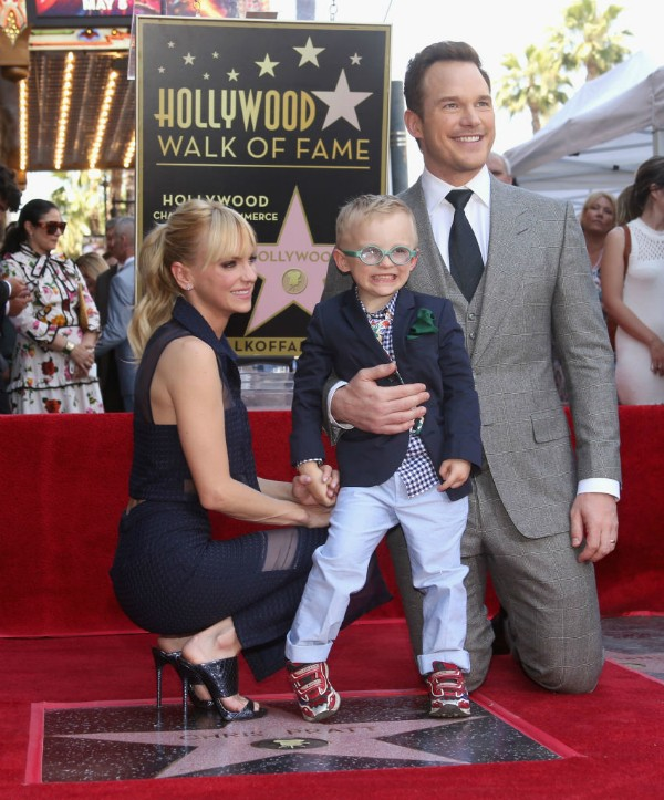 Anna Faris, Chris Pratt e Jack (Foto: Getty Images)