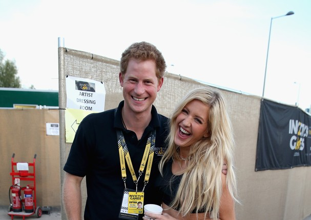 Harry e Ellie Goulding, em 2014 (Foto: Getty Images)