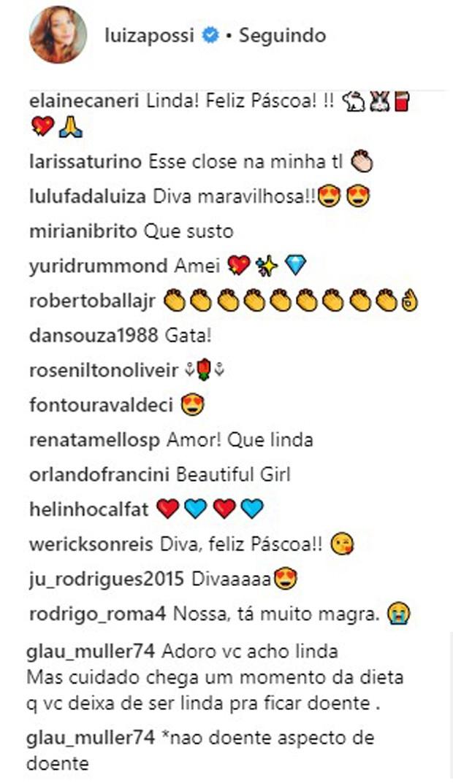 Luiza Possi divide opiniões por causa da magreza (Foto: Reprodução/Instagram)