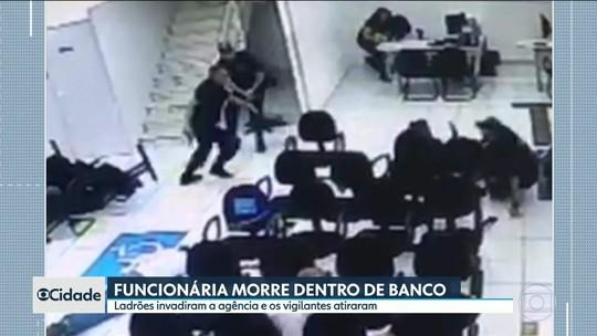 Câmera registra tentativa de assalto a banco que terminou com funcionária morta em SP