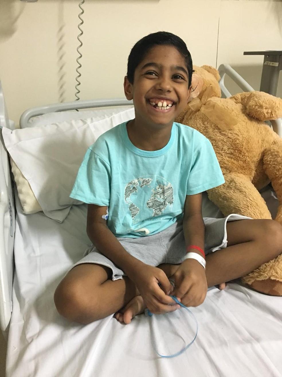 Enzo passou por dois hospitais até receber diagnóstico de doença rara — Foto: Shirley Miranda Cordeio/ Arquivo Pessoal