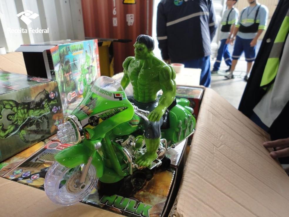 Brinquedos também foram apreendidos (Foto: Receita Federal/Divulgação)