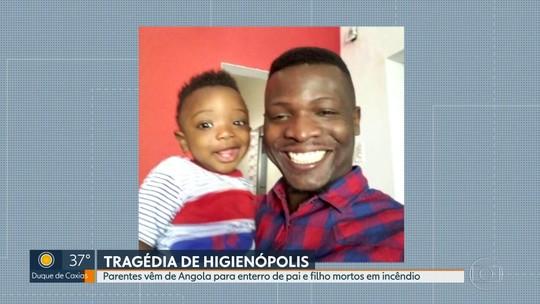 Parentes vêm de Angola para enterro de pai e filho mortos em incêndio