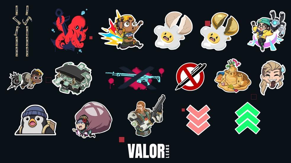 Mais sprays engraçados para utilizar no seu jogo — Foto: Reprodução/Valorleaks