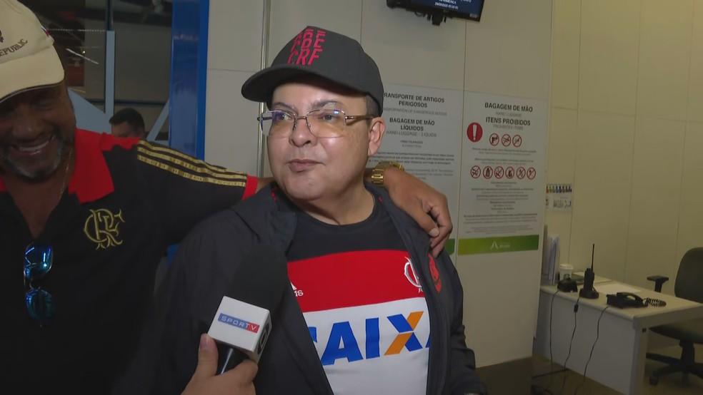 O governador do DF, Ibaneis Rocha (MDB), em entrevista ao SporTV às vésperas do jogo entre Flamengo e Riverplate, na final da Libertadores 2019 — Foto: SporTV/Reprodução