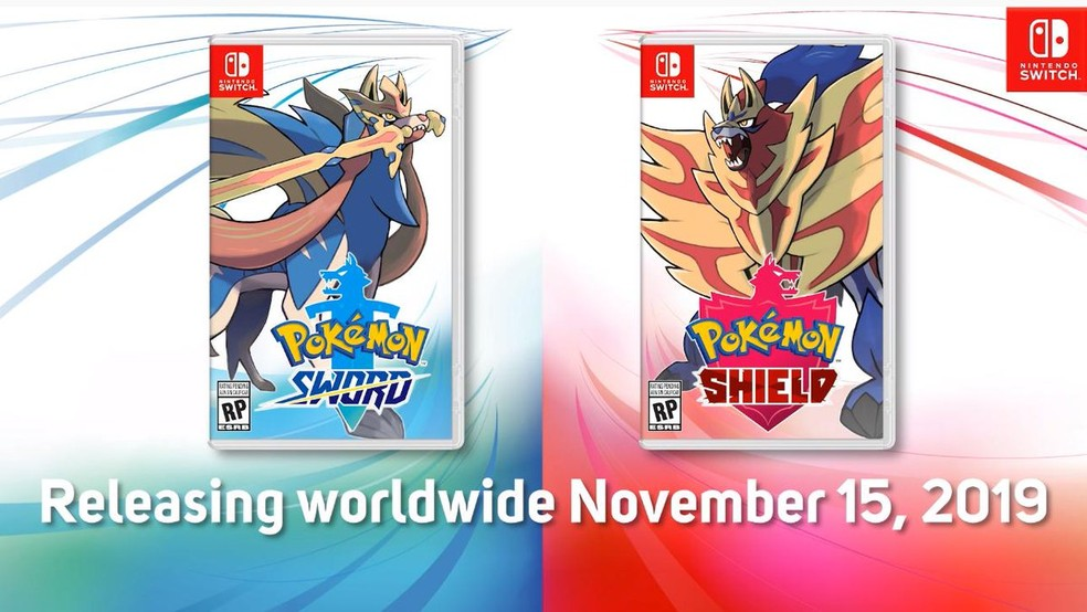 Pokémon Sword e Shield serão lançados em novembro — Foto: Divulgação/Nintendo