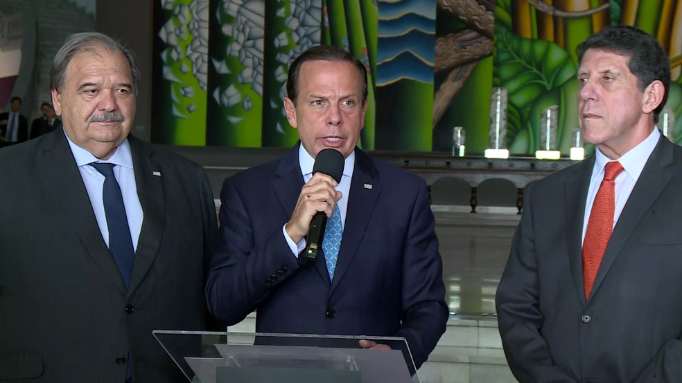 Doria anuncia novas medidas de combate ao coronavírus — Foto: TV Globo/reprodução