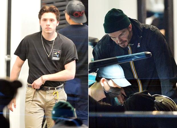 David Beckham acompanha tatuagem do filho, Brooklyn Beckham (Foto: The Grosby Group)