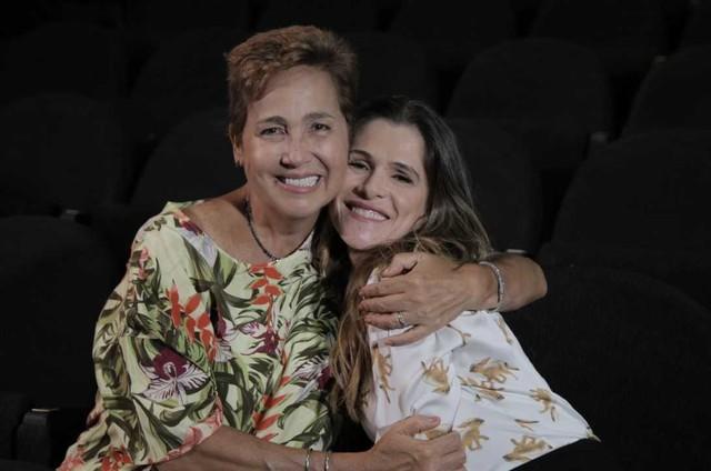 Claudia Jimenez gravou com Ingrid Guimarães 'Viver do riso', do Viva (Foto: Raphael Alvarez)