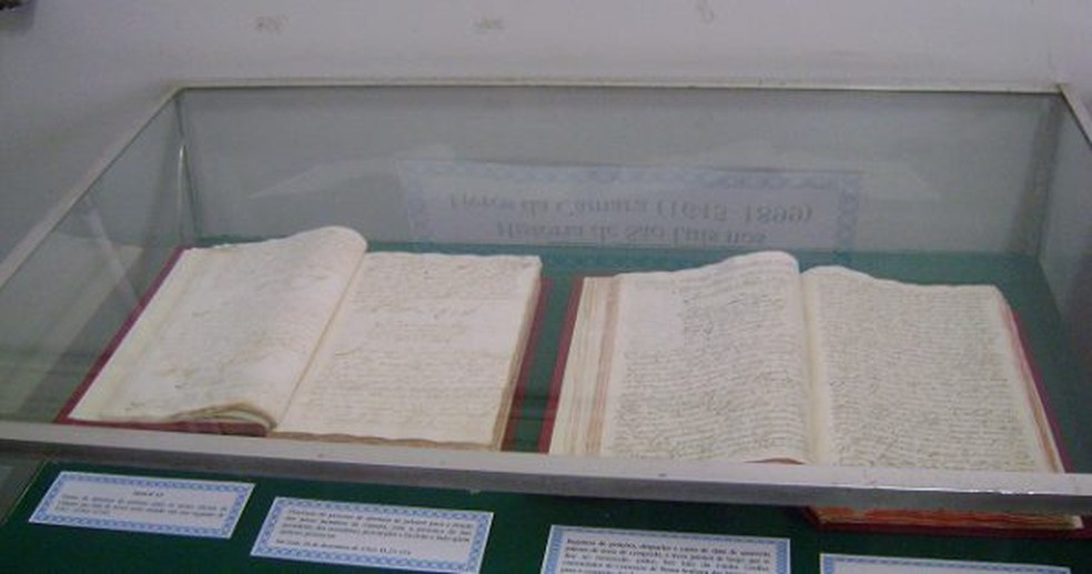 Documentos na exposição ajudam a compreender a história do Maranhão (Foto: Divulgação / Secretaria de Cultura e Turismo)