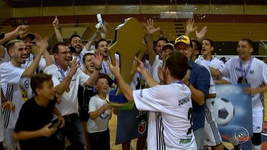 Jundiaí empata com Sorocaba e fatura título da Copa TV TEM de Futsal