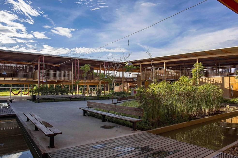 Escola 'Aldeia das Crianças', que ganhou prêmio internacional de arquitetura — Foto: Divulgação