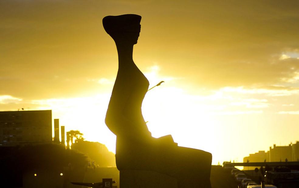 Estátua que representa a Justiça em frente ao Supremo Tribunal Federal, em imagem de arquivo (Foto: Jose Cruz/ABr)