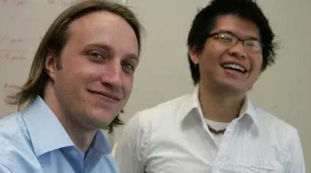 Chad Hurley Steve Chen, os fundadores do YouTube (Foto: Reprodução)
