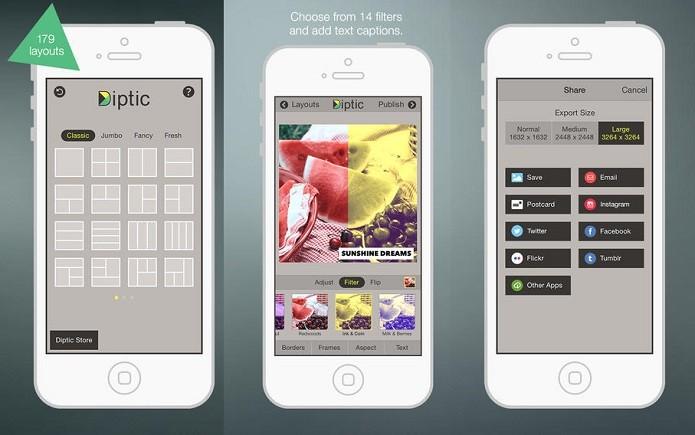 Use o Diptic para fazer montagens com suas fotos (Foto: Divulgação/Apple)