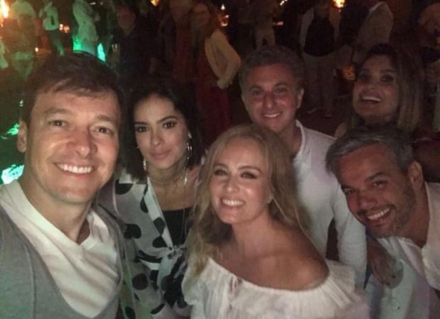 Rodrigo Faro, Vera Viel, Angélica, Luciano Huck, Otaviano Costa e Flavia Alessandra (Foto: Reprodução / Instagram)