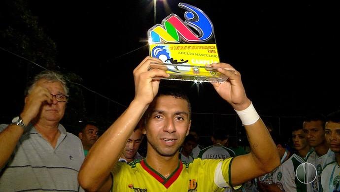 Luquinhas Galinhos beach soccer (Foto: Reprodução)
