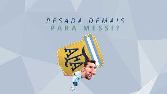 A seleção argentina é pesada demais para Messi? Veja os números