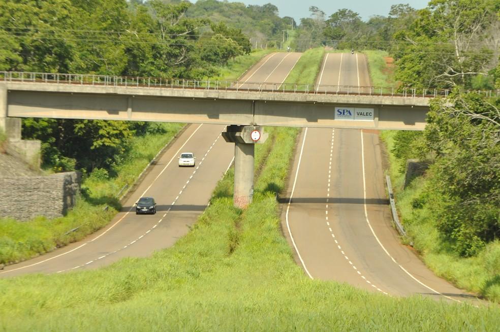 TO-080 é a principal ligação de Palmas com a Ferrovia Norte-Sul — Foto: Thiago Sá/Governo do Tocantins